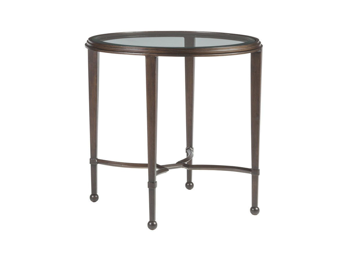 round travertinemarbleandmetal in table marble roundendtable metal grey travertine millvalley mill end valley tables