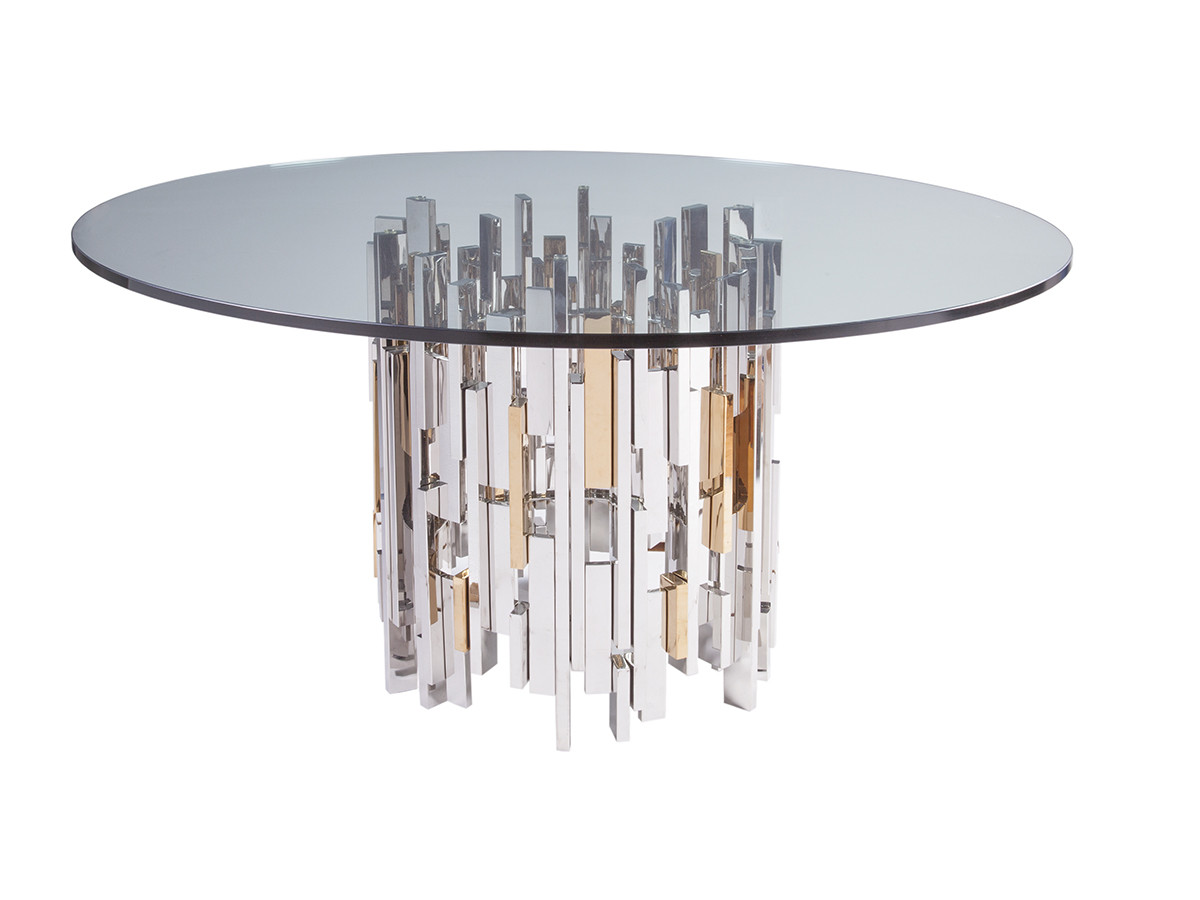 60 round glass dining table cityscape dining table with glass top 7372