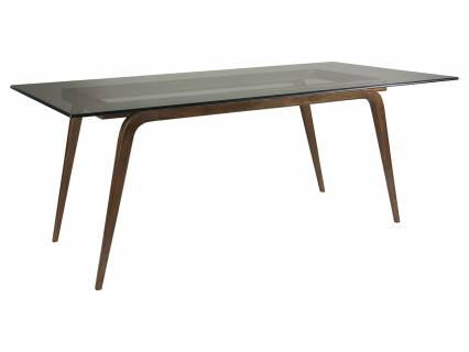 Mitchum Rectangular Dining Table With Glass Top