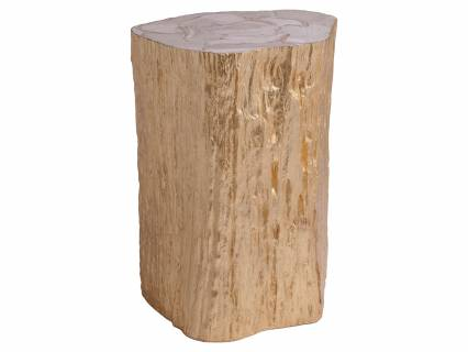 Trunk Segment Accent Table  Leaf