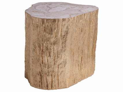 Trunk Segment Side Table - Gold Leaf