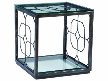 Honeycomb Square End Table
