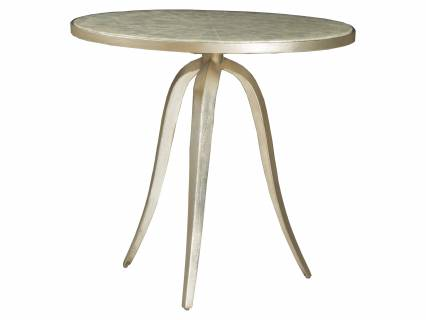 Capiz Round End Table