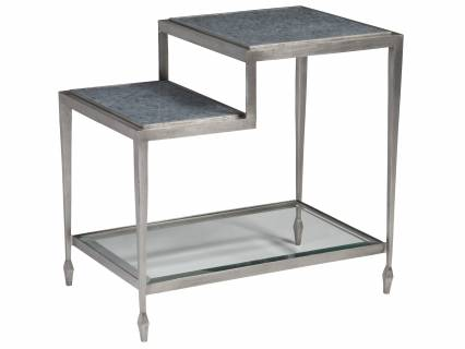 Sashay Silver Rectangular End Table