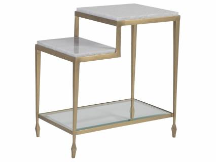 Sashay Gold Rectangular End Table